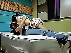 Korean bang-out episode dilettante gf ravaged in sofa by her Korean bf