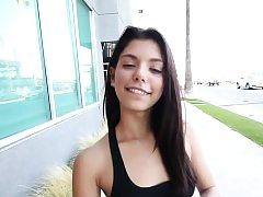 Latina teen nutted in point of view
