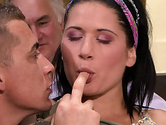 Cheating surprise for his young Czech wife